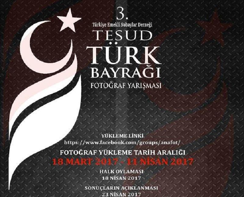 3'üncü Türk Bayrağı Fotoğraf yarışması başlamıştır.