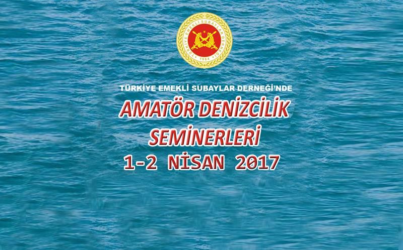 1-2 NİSAN 2017 CUMARTESİ - PAZAR GÜNLERİ ADB - KMT SEMİNERLERİ YAPILACAKTIR.