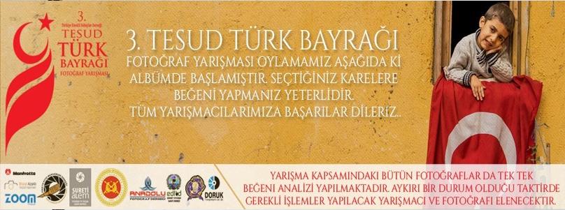 TESUD Türk Bayrağı Fotoğraf Yarışmasında Halk Oylaması başlamıştır.