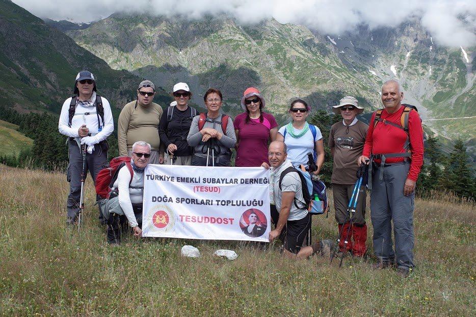 TESUD Doğa Sporları Topluluğu tarafından Kaçkar Dağları'nda doğa yürüyüşü etkinliği yapılmıştır