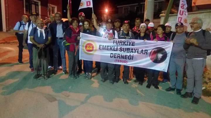 25-26 Ağustos gecesi Afyon Çakırözü köyünden Kocatepe'ye yapılan Zafer Yürüyüşü