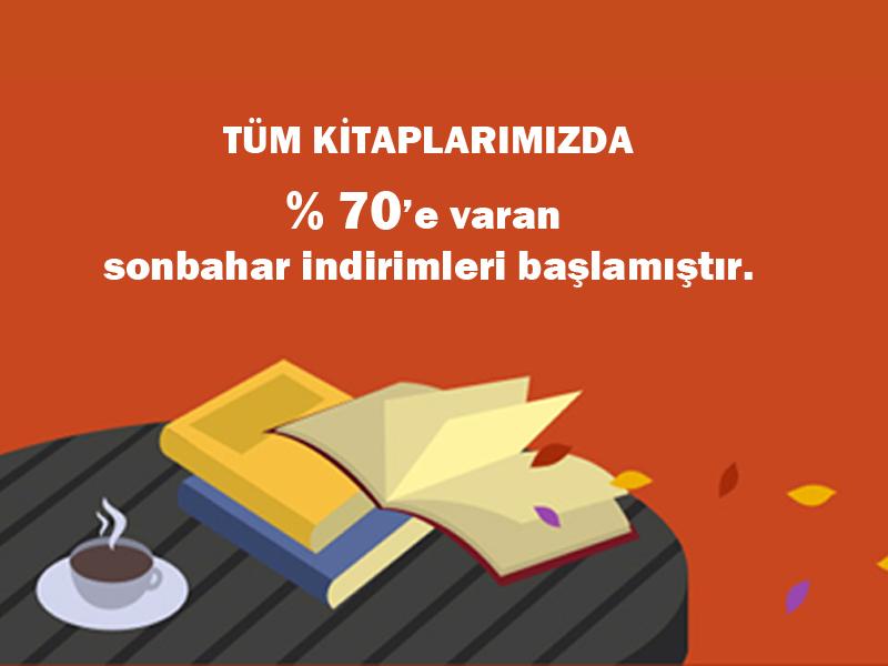 Kitap Satışlarında  %70'e varan sonbahar indirimleri başlamıştır.