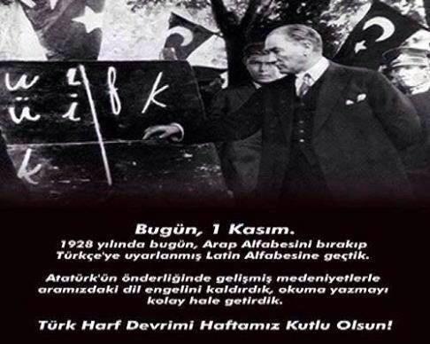 1 Kasım 1928: Bugün Harf Devrimi'nin 89. Yılı