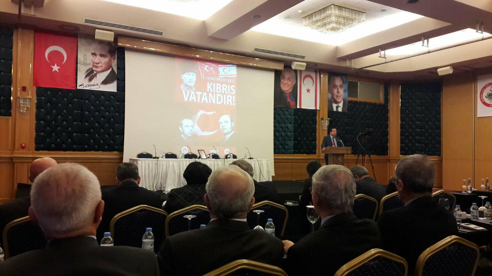 Kuzey Kıbrıs Türk Cumhuriyeti (KKTC)'nde yapılan Geçmişten Geleceğe Kıbrıs ve KKTC Sempozyumu