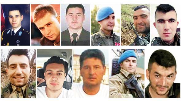 Aziz şehitlerimize Allah'tan rahmet,yaralanan kahraman silah arkadaşlarımıza acil şifalar diliyoruz.