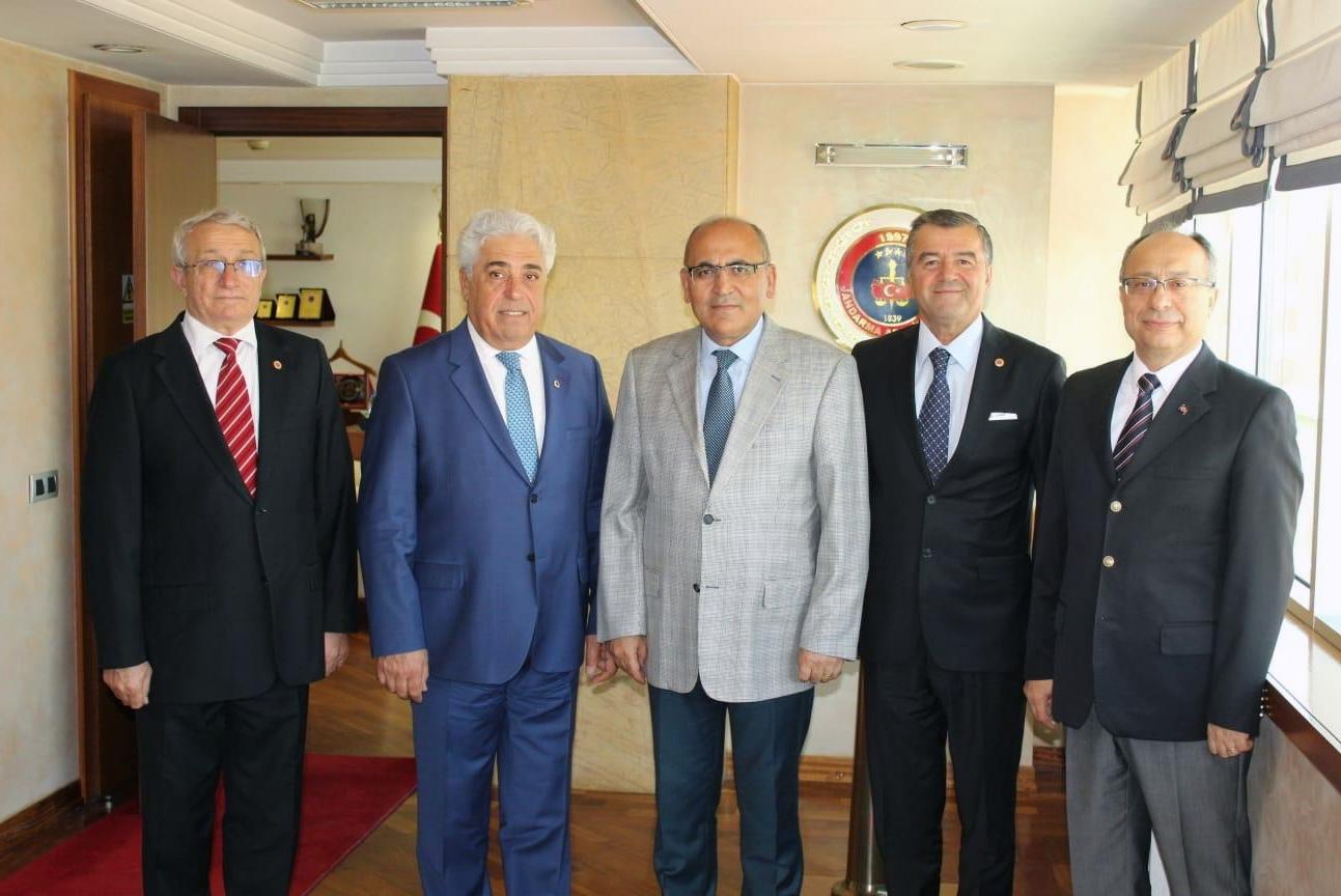 Jandarma Asayiş Vakfı Genel Başkanını Ziyaret
