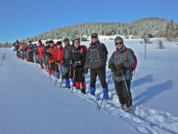 Kızılcaören Yaylası Bölgesinde kar yürüyüşü yapılacaktır.