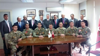 Azerbaycan Gaziler ve Emekli Subaylar Derneği üyelerinin TESUD'u ziyareti