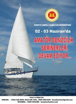 Amatör Denizci Belgesi ve Kısa Mesafe Telsiz Operatörü Yeterlik Belgesi alınmasına yönelik seminer
