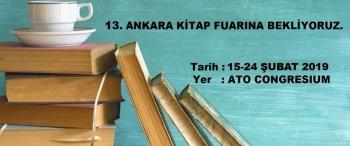 13. Ankara Kitap Fuarına Katılıyoruz.
