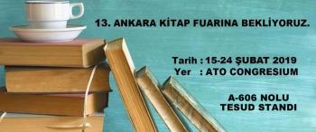 13. Ankara Kitap Fuarına Bekliyoruz.