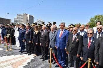 Kıbrıs Barış Harekatının 45.Yılı Ulus Atatürk Heykeli Önünde Kutlandı