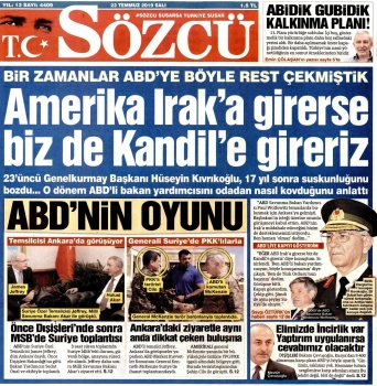 Sözcü Gazetesi / 23 Temmuz 2019