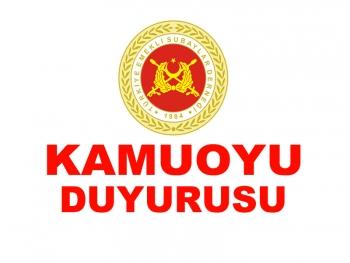 KAMUOYU DUYURUSU