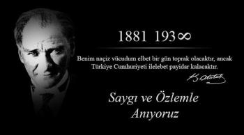 10 Kasım 2019 Atatürk'e Saygı Yürüyüşü