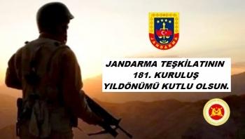 Jandarma Teşkilatının 181. Kuruluş Yıldönümü